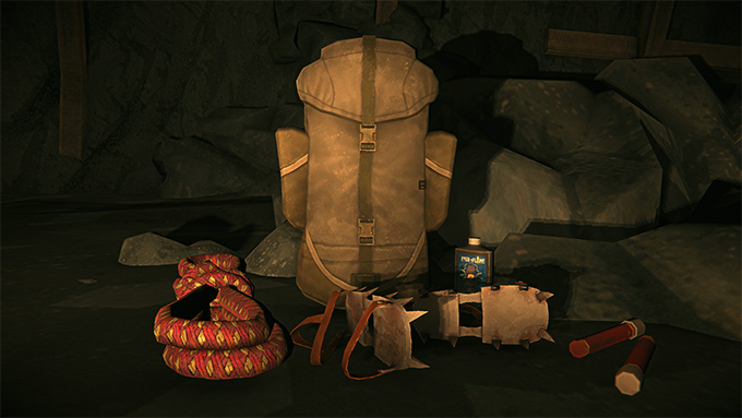 The crampons and technical pack are two new gear items.