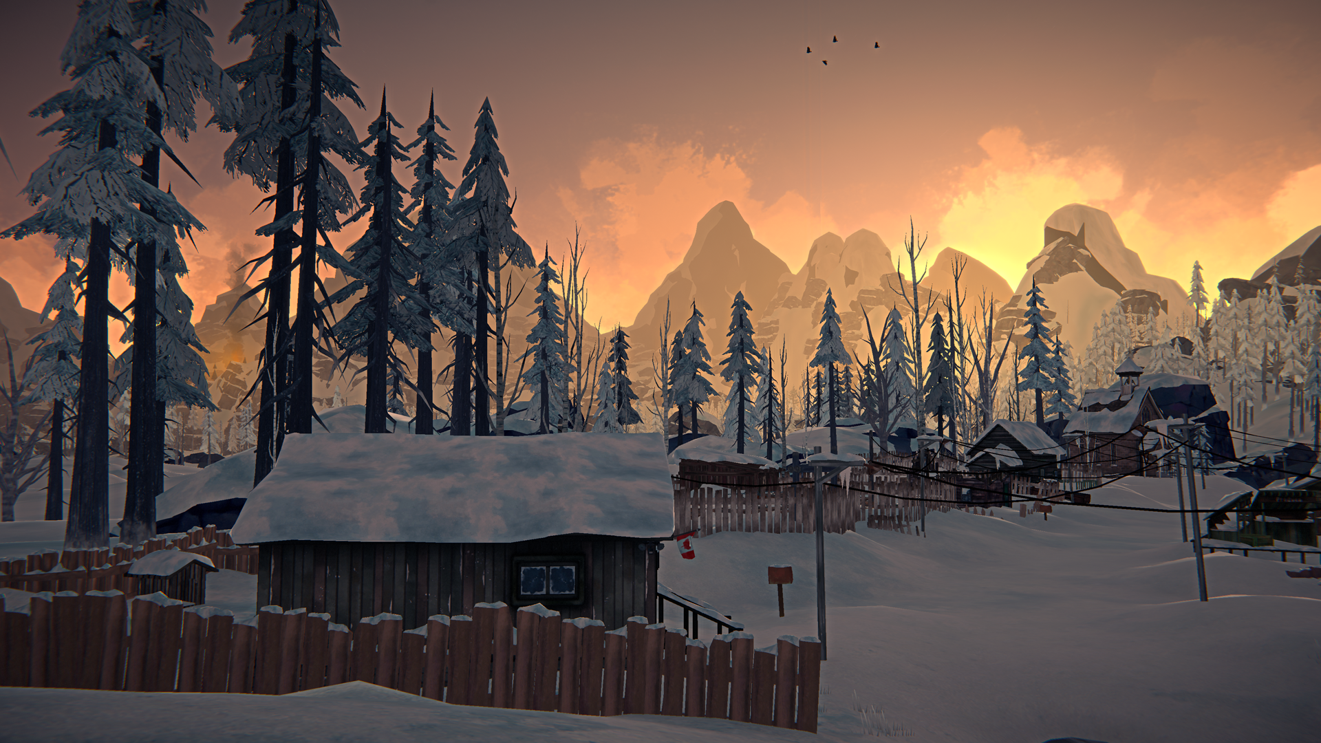 The Long Dark -- Episode Three: CROSSROADS ELEGY -- Smoke In The Hills Screenshot